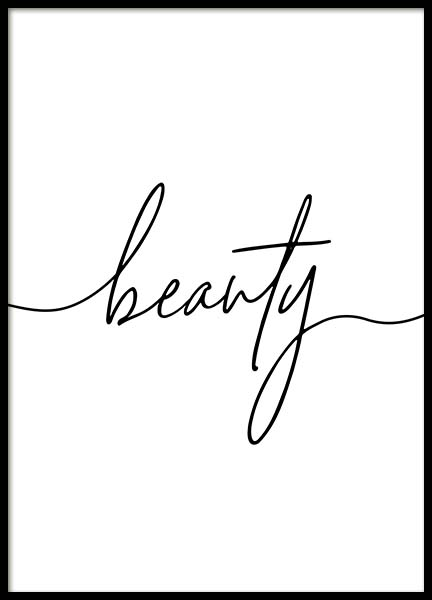 Beauty Script Poster in the group Prints / Typography & quotes at Desenio AB (11651)
