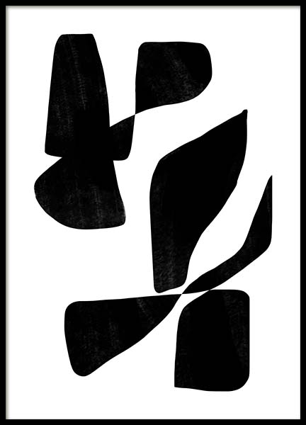 Black Graphic Poster in the group Prints / Art prints / Abstract art prints at Desenio AB (11671)
