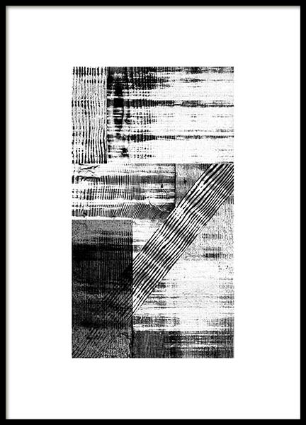 Graphic Wood Texture Poster in the group Prints / Black & white at Desenio AB (11672)
