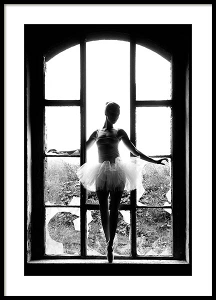 Window Ballet Poster in the group Prints / Fashion at Desenio AB (11701)