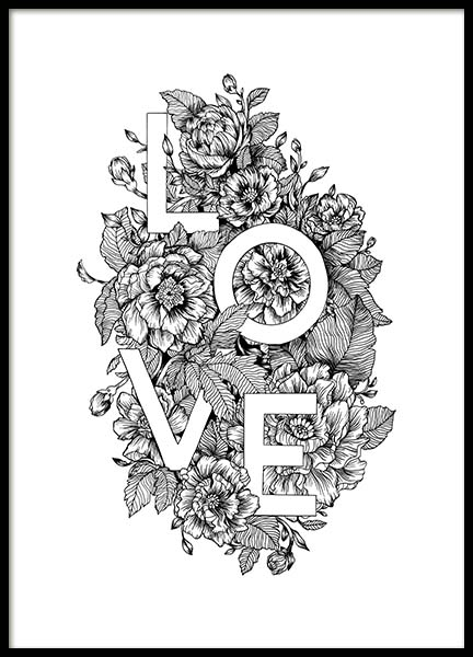 Blooming Love Poster in the group Prints / Illustrations at Desenio AB (11736)