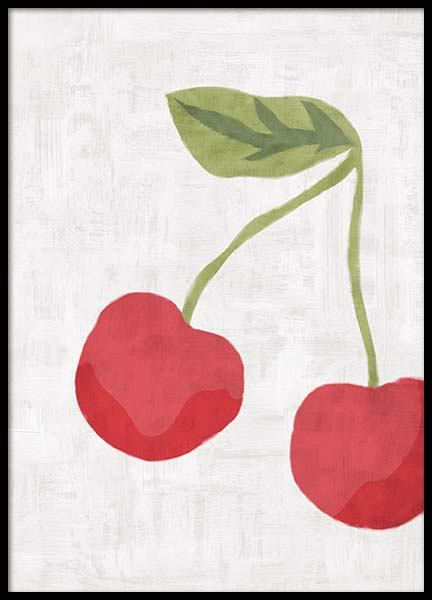 Cerises Graphique Poster in the group Prints / Illustrations at Desenio AB (11740)