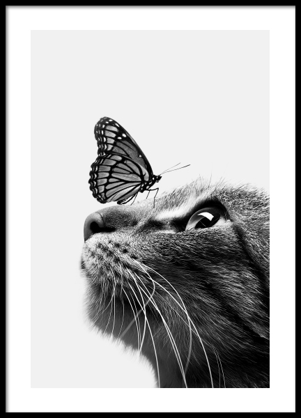 Butterfly Cat Poster in the group Prints / Kids at Desenio AB (11774)