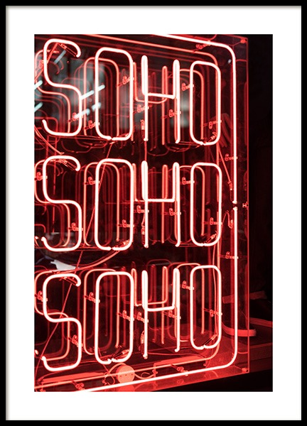 Neon Soho Poster in the group Prints / Photographs at Desenio AB (11814)