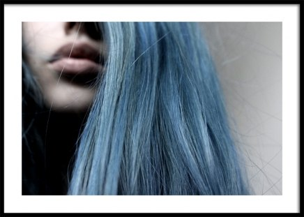 Girl With Blue Hair Poster in the group Prints / Photographs at Desenio AB (11824)