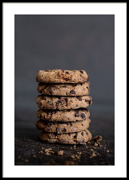 Chocolate Cookies Poster in the group Prints / Sizes / 50x70cm | 20x28 at Desenio AB (11826)