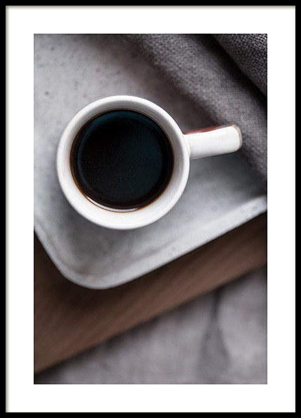 Coffee in Bed Poster in the group Prints / Kitchen at Desenio AB (11828)