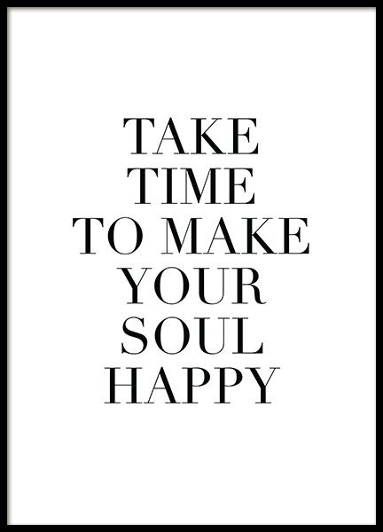 Make Your Soul Happy Poster in the group Prints / Typography & quotes at Desenio AB (11847)
