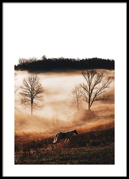 Horse in Landscape Poster in the group Prints / Photographs at Desenio AB (11862)