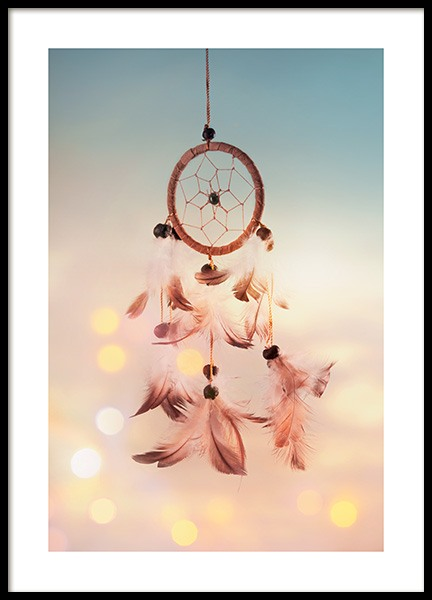 Dreamcatcher with Feathers Poster in the group Prints / Photographs at Desenio AB (11882)