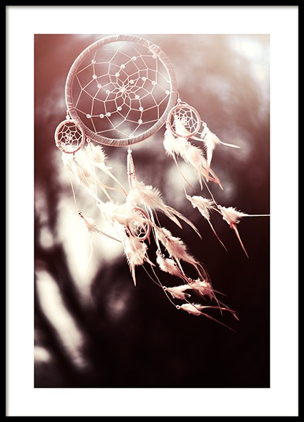 White Dreamcatcher Poster in the group Prints / Photographs at Desenio AB (11887)