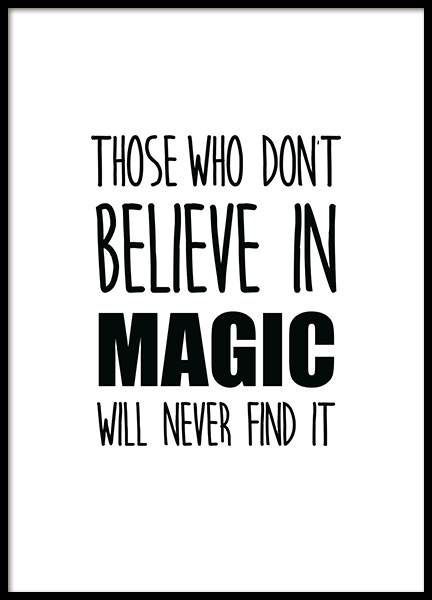 Believe in Magic Poster in the group Prints / Kids posters at Desenio AB (11902)
