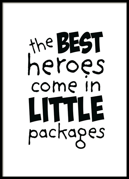 Best Heroes Poster in the group Prints / Kids posters at Desenio AB (11904)