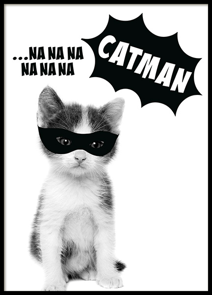 Catman Poster in the group Prints / Kids at Desenio AB (11906)