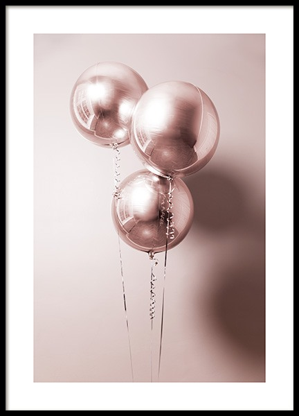 Rosé Balloons Poster in the group Prints / Photographs at Desenio AB (11920)