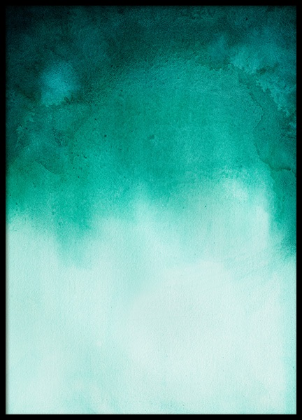 Green Ombre Poster in the group Prints / Art prints at Desenio AB (11930)
