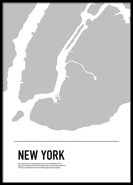 Graphic Map New York Poster in the group Prints / Maps & cities at Desenio AB (11933)