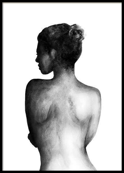 Back Watercolor Poster in the group Prints / Black & white at Desenio AB (11940)