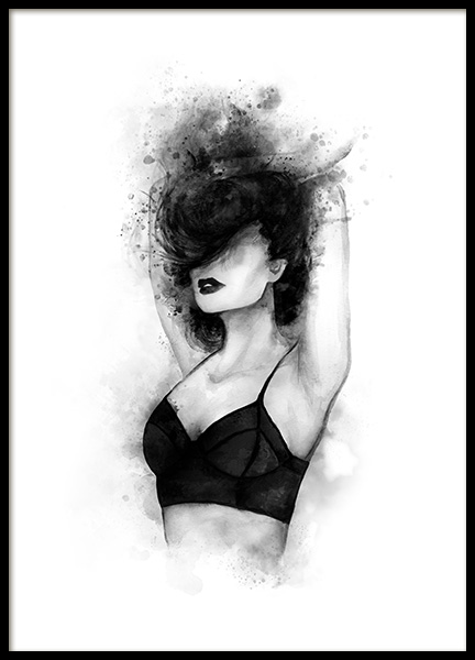Black Top Poster in the group Prints / Black & white at Desenio AB (11943)