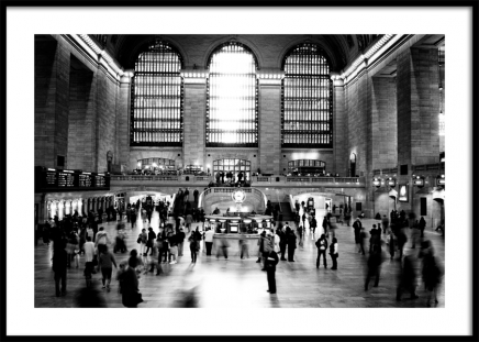 Grand Central Terminal NYC Poster in the group Prints / Black & white at Desenio AB (11953)