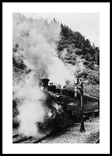 Locomotive Poster in the group Prints / Sizes / 50x70cm | 20x28 at Desenio AB (11956)