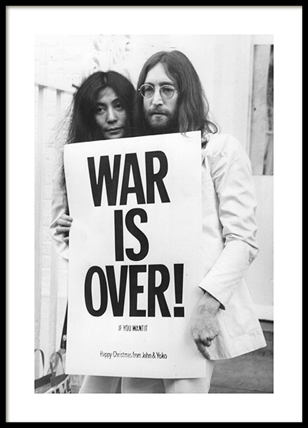 War is Over Poster in the group Prints / Black & white at Desenio AB (11970)