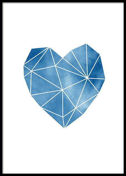 Geometric Watercolor Heart Poster in the group Prints / Graphical at Desenio AB (11993)
