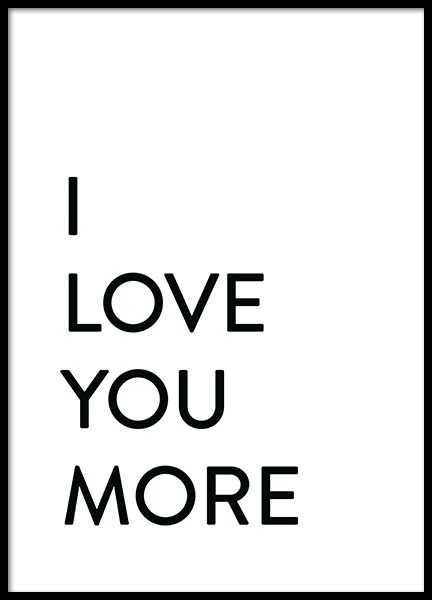 Each Day I Love You No2 Poster in the group Prints / Text posters at Desenio AB (12009)