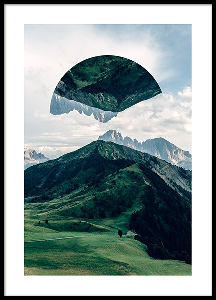 Floating Mountain No1 Poster in the group Prints / Nature at Desenio AB (12041)