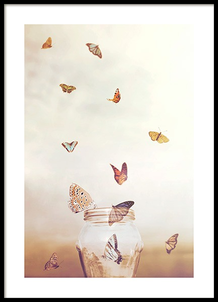 Golden Butterflies Poster in the group Prints / Animals at Desenio AB (12045)