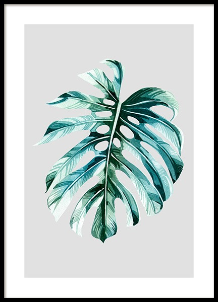 Watercolor Monstera Poster in the group Prints / Floral at Desenio AB (12060)