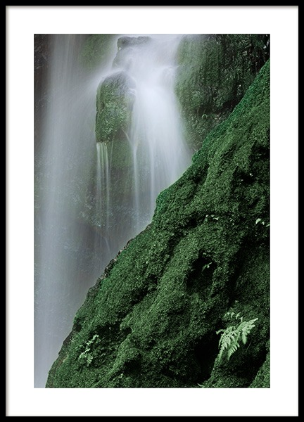 Waterfall in Forest Poster in the group Prints / Nature at Desenio AB (12080)