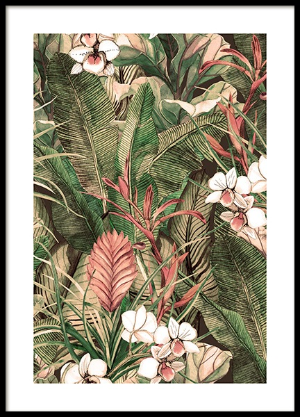 Botanical Pattern No1 Poster in the group Prints / Art prints at Desenio AB (12086)