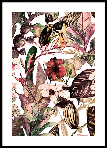 Botanical Pattern No2 Poster in the group Prints / Floral at Desenio AB (12087)