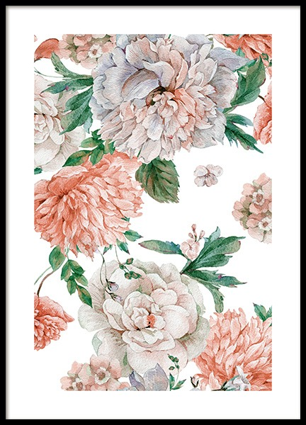 Blooming Peonies Poster in the group Prints / Floral at Desenio AB (12088)