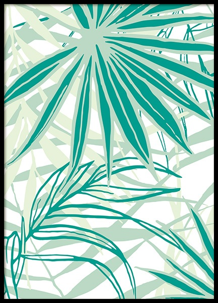 Tropical Pattern No1 Poster in the group Prints / Floral at Desenio AB (12089)