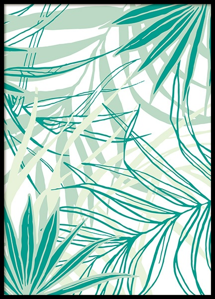 Tropical Pattern No2 Poster in the group Prints / Floral at Desenio AB (12090)