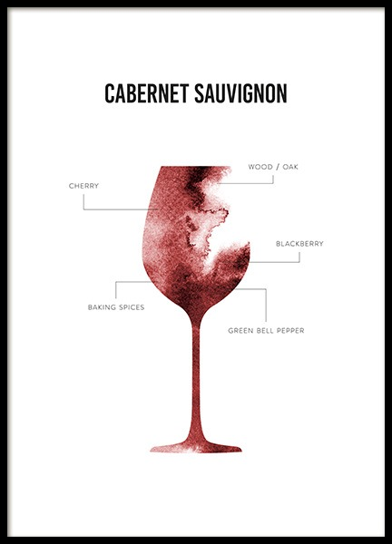 Cabernet Sauvignon Anatomy Poster in the group Prints / Kitchen at Desenio AB (12120)