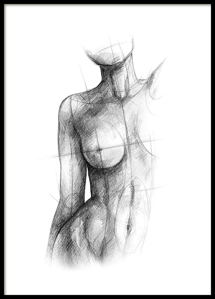 Incomplete Sketch Poster in the group Prints / Sizes / 50x70cm | 20x28 at Desenio AB (12134)