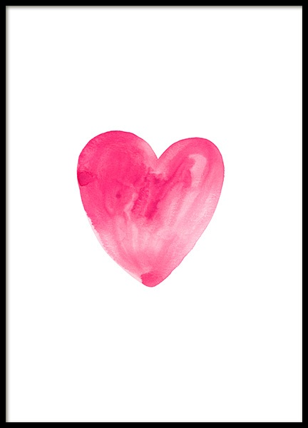 Watercolor Heart Poster in the group Prints / Sizes / 50x70cm | 20x28 at Desenio AB (12138)