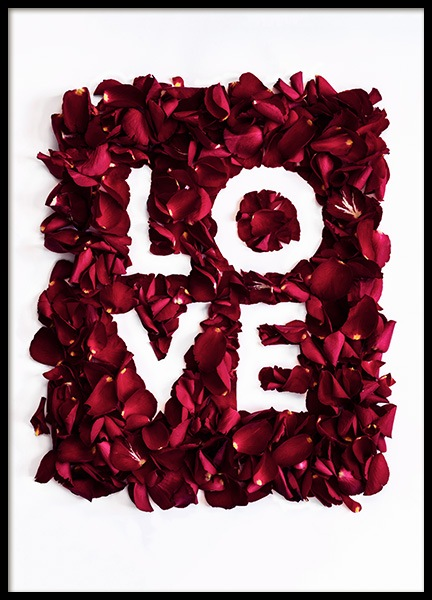 Rose Love Poster in the group Prints / Text posters at Desenio AB (12146)