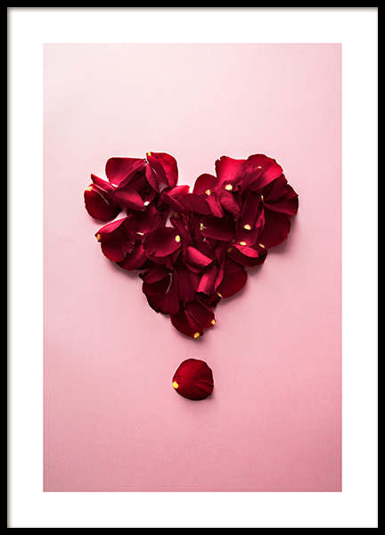Petal Heart Poster in the group Prints / Art prints at Desenio AB (12147)