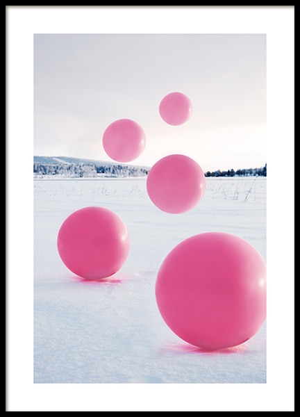 Floating Balloons Poster in the group Prints / Studio Collections / Studio Mystery at Desenio AB (12179)