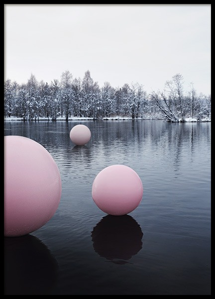 Pink Lake Balloon Poster in the group Prints / Studio Collections / Studio Mystery at Desenio AB (12196)