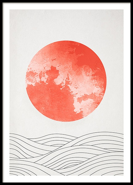 Coral Sunrise Poster in the group Prints / Sizes / 50x70cm | 20x28 at Desenio AB (12244)