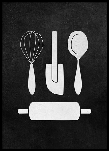 Kitchenware Poster in the group Prints / Kitchen at Desenio AB (12251)