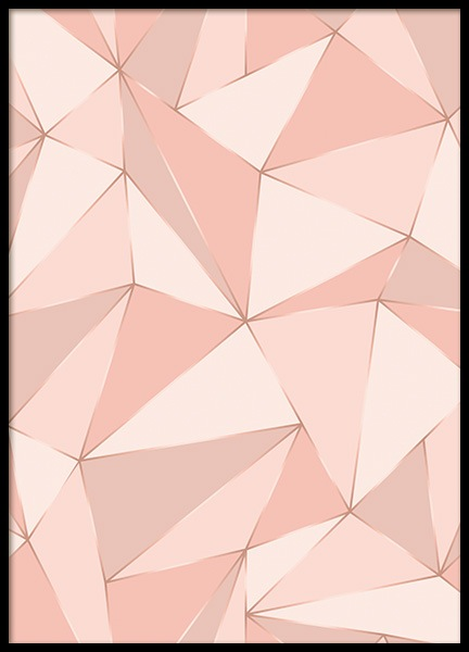 Geometric Pink Poster in the group Prints / Art prints / Abstract art at Desenio AB (12256)