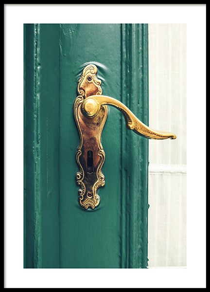 Brass Door Handle Poster in the group Prints / Photographs at Desenio AB (12270)