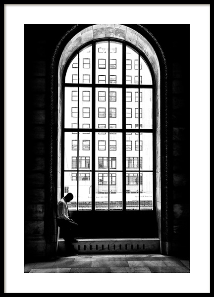 Man at the Window Poster in the group Prints / Black & white at Desenio AB (12288)