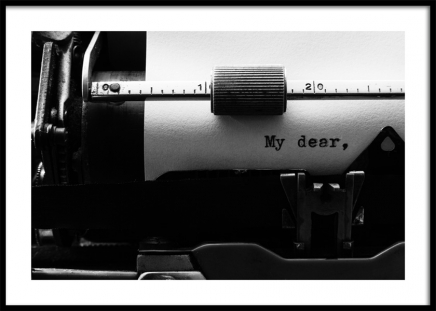 My Dear Typewriter Poster in the group Prints / Black & white at Desenio AB (12291)